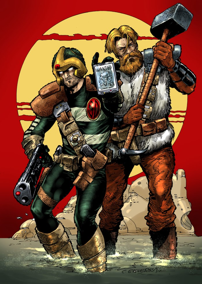 Inspirational: Search and Destroy - Strontium Dog by Carlos Ezquerra