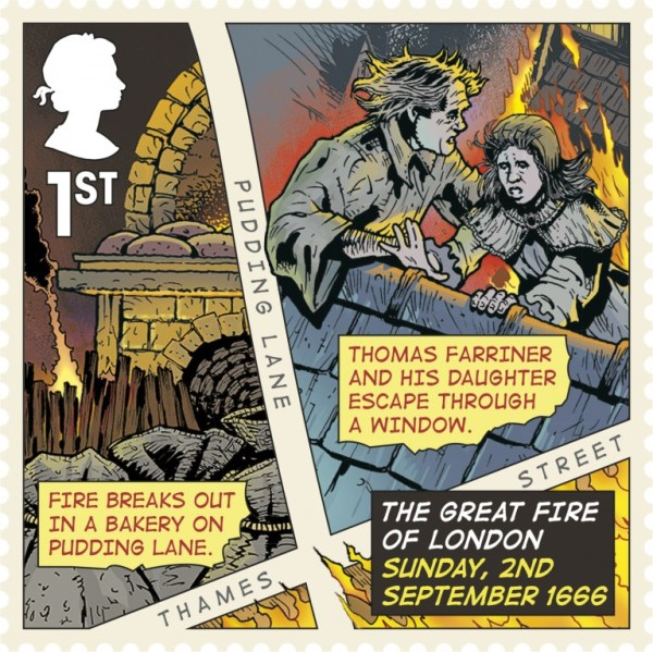 Great Fire of London Stamp - 2nd September