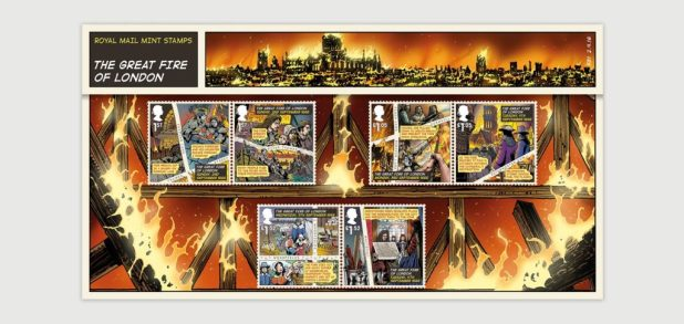 Great Fire of London Stamp -  Presentation 3