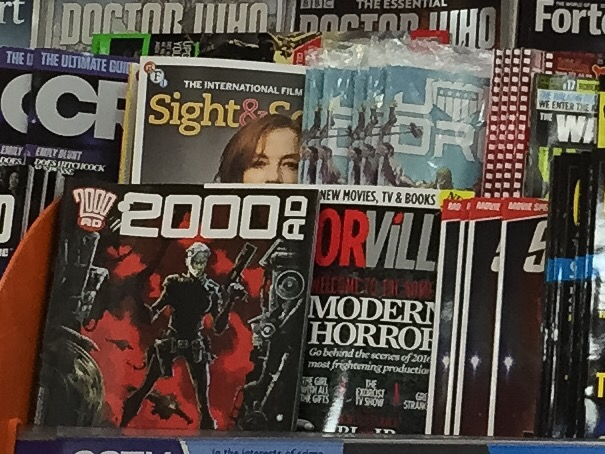 There is no point even stocking a weekly comic like 2000AD if WHSmith is not prepared to display it properly. Before and after, Lancaster store - can you spot tge Galaxy's Greatest Comic in the first picture?