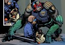 """Ape Judge Harry Heston storms the Megazine, the co-creation of late 2000AD """"super fan"""" Stewart Perkins"""