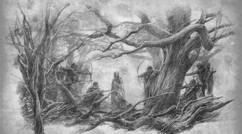 Tolkien-inspired art by watercolour artist Alan Lee