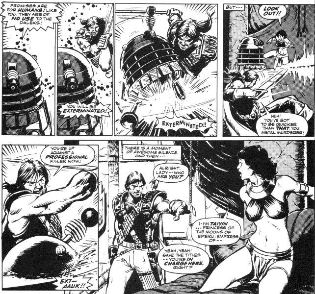 "Art from Doctor Who - ""Abslom Daak, Dalek Killer Episode 1"" for Doctor Who, written by Steve Moore, art by Steve Dillon"