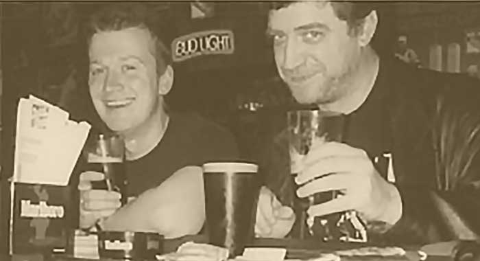 Garth Ennis and Steve Dillon, about 15 years ago. Photo courtesy Garth Ennis