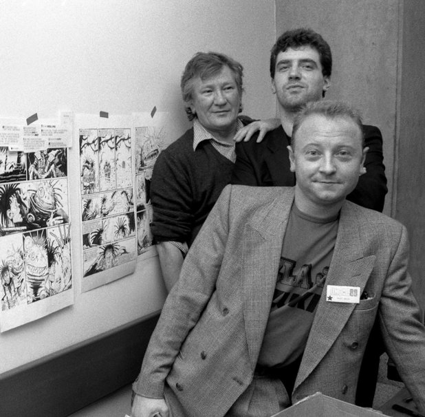 """""""All of these fine people have left us,"""" mourns photographer Steve Cook. """"Tom Frame, Brett Ewins and now, Steve Dillon. I hope they've found a nice pub elsewhere. R.I.P."""" Photo Steve Cook"""