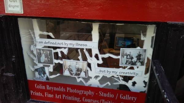Mat Jimdogart's window for Colin Reynolds Photography