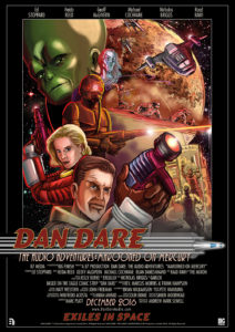 Dan Dare Audio Adventures - Marooned on Mercury Poster by Brian Williamson