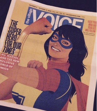 New York's Village Voice reports on the modern Ms Marvel