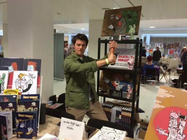 Nottingham Comic Convention 2016 - Darrell Thorpe (aka Forpe). Photo: Tony Esmond