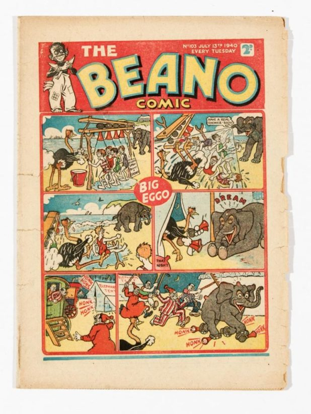 Beano 103, published in 1940. Inside, Pansy Potter takes on German paratroopers - and wins!