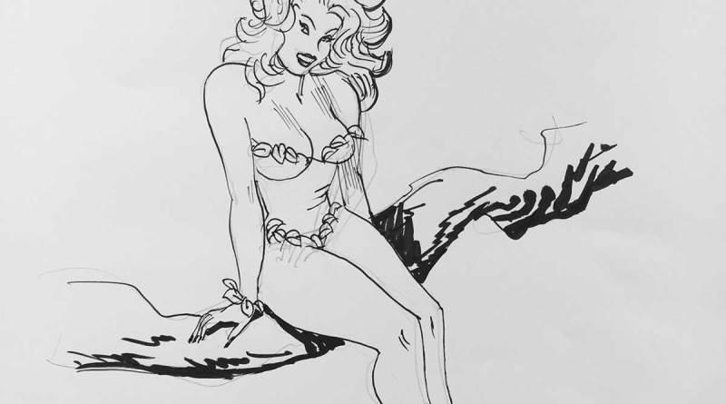 LICAF Auction art: Poison Ivy by Jordi Bernet