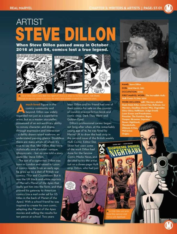 Marvel Fact Files 203 - Steve Dillon Tribute