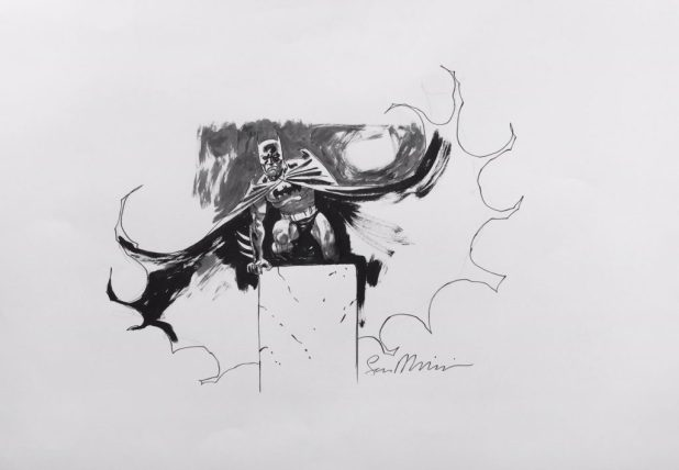 2016 Lakes International Comic Art Festival auction art:  Batman by Sean Phillips
