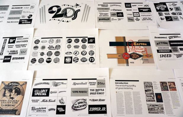 Custom Lettering of the 20s & '30s - spreads for the book by Rian Hughes