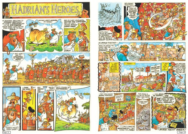 'Hadrian's Heroes',  script by Nick Pemberton, art and colours by Nigel Parkinson - © Nigel Parkinson
