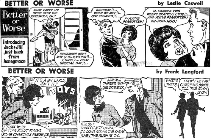 """""""Better Or Worse"""" by Leslie Carroll, art by Frank Langford"""