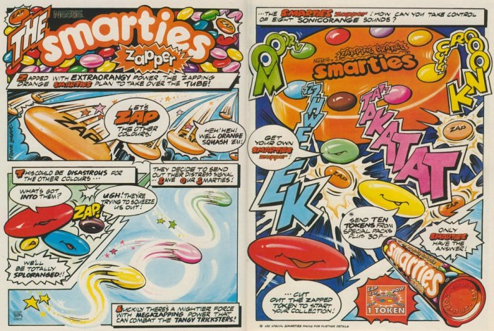 Smarties Ad - art by Frank Langford