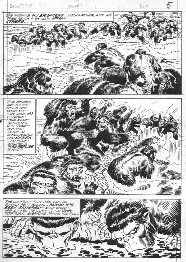 2001: A Space Odyssey Treasury Edition - Page 5 - Pencils: Jack Kirby - Inks: Frank Giacoia