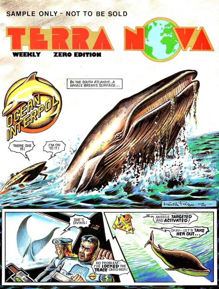 Terra Nova's Ocean Interpol with art by Keith Page
