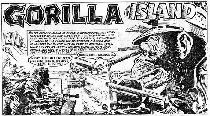 Gorilla Island - Tiger - art by Frank Langford