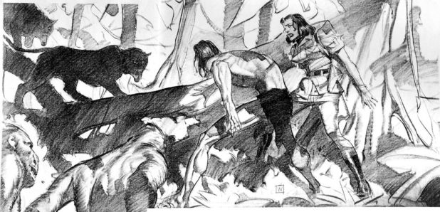 Tarzan storyboard by John Watkiss