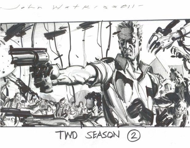 The Walking Dead TV Series storyboard by John Watkiss