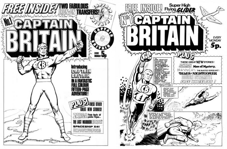 IPC's 1973 dummy for a Captain Britain comic