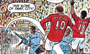 Daily Mail Roy of the Rovers art