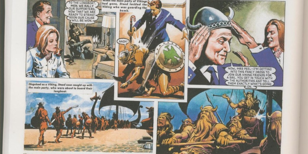 """Mrs Peel, we're needed: """"The Avengers"""" comic strips collected at last"""