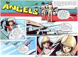 "Art from ""The Angels"" by Jon Davis, published in Lady Penelope comic"