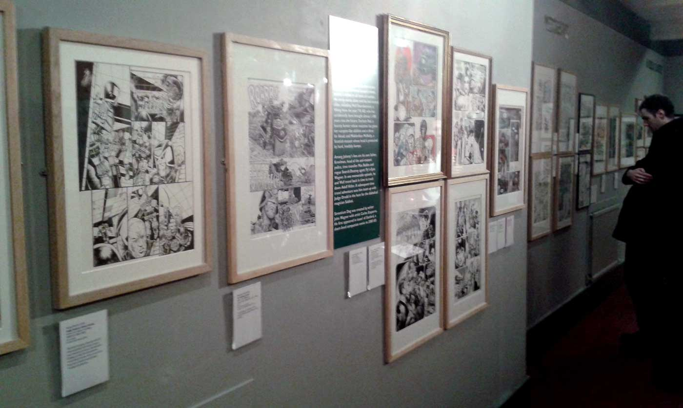 In Review: Future Shock! 40 Years of 2000AD – Cartoon Museum Exhibition