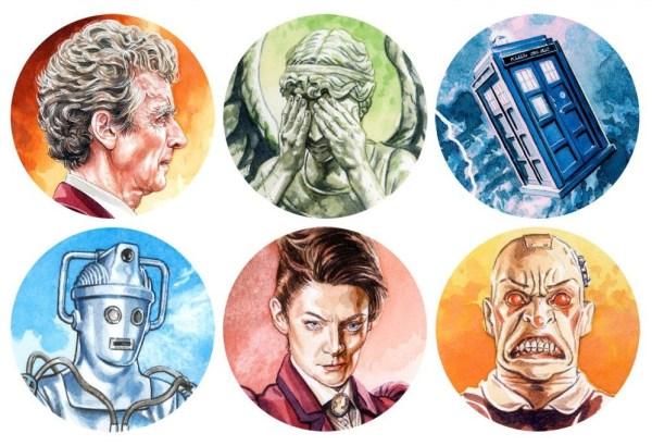 Doctor Who Sticker Pack by Graeme Neil Reid 2