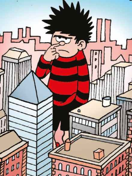 Dennis the Menace goes super-sized... to fight a space-lizard!