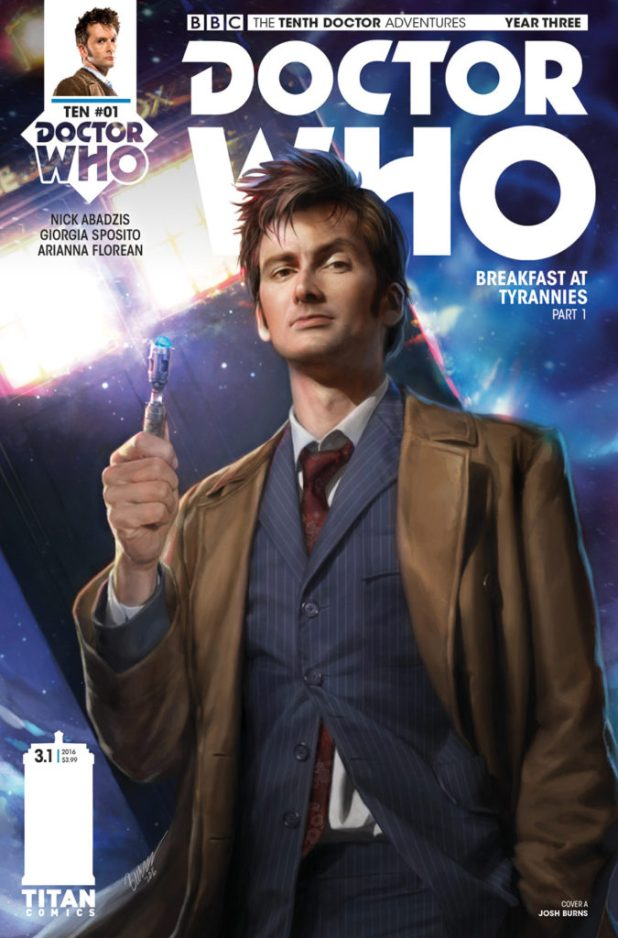 Doctor Who: The Tenth Doctor Year 3 #1 Cover A by Josh Burns