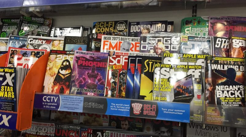 The Phoenix is racked with teenage titles in WHSmith Lancaster (and not usually as prominently as it is in this picture)