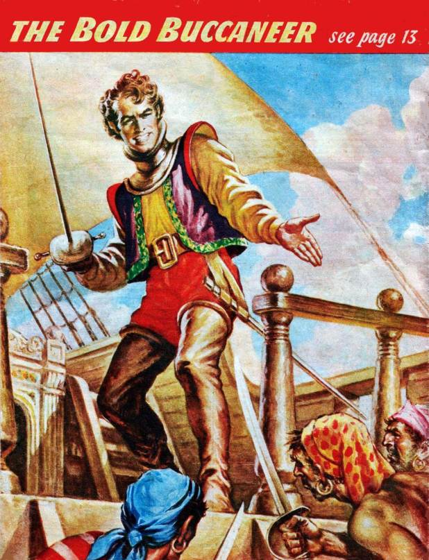 Heade's cover art from Captain Kidd – Buccaneer as reused on the back page of Comet Issue 511.