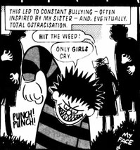 A panel from 'Growing out of It' from the AARGH anthology, written by Jamie Dealno, drawn by Shane