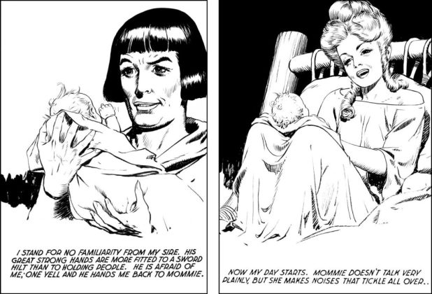 Prince Valiant, moving with the times with the introduction of Arn in 1947
