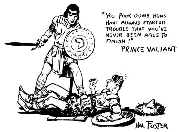 World War Two propaganda featuring Prince Valiant