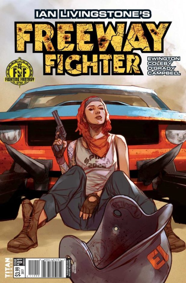 Freeway Fighter #1 - Cover B by Ben Oliver