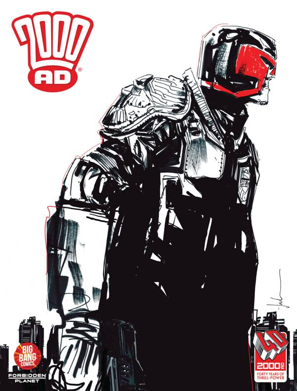 2000AD 40th Anniversary Special - Jock Cover Reprint
