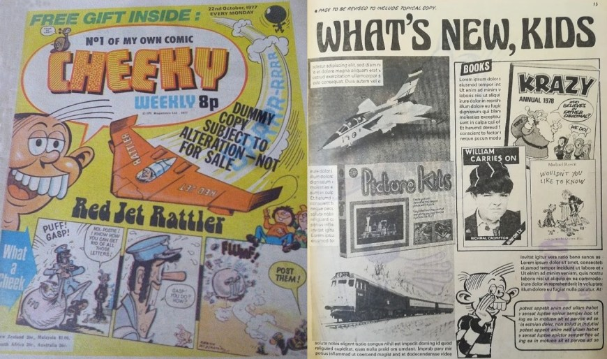 Cheeky Issue 1 Newsagents Preview