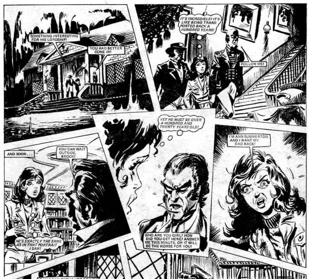 """Panels from the episode of """"End of the Line"""" from the issue of Misty cover dated 21st October 1978"""