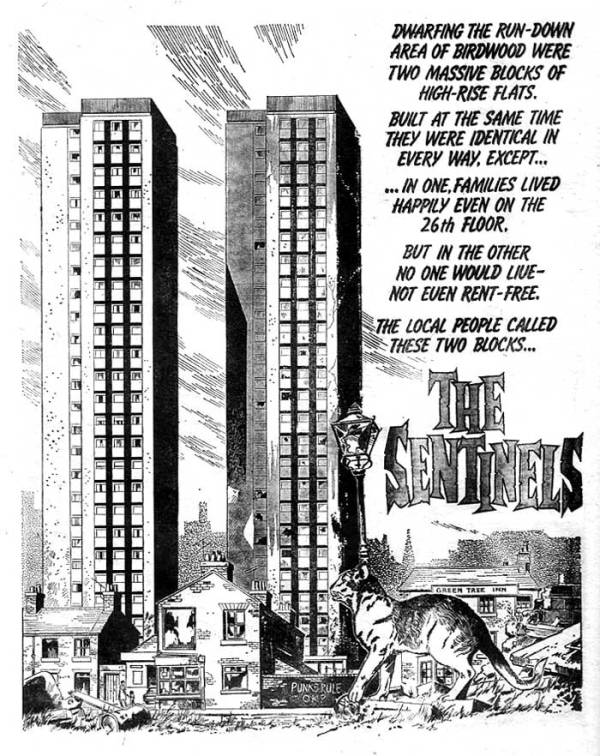 """The opening page of """"The Sentinels"""" from Misty Issue One"""