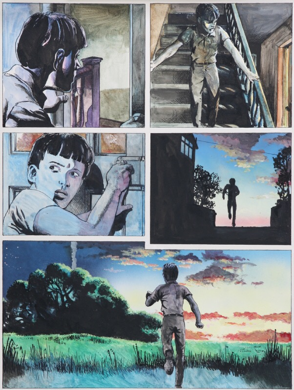 "A page from ""The Night Walker"", the Luke Kirby adventure published in 1992"