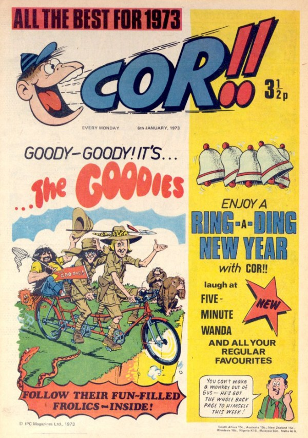Cor!! - Cover Date 6th January 1973
