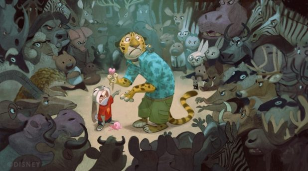 Feature Animation illustration work by Reuben Award nominee Cory Loftis (for Zootopia)
