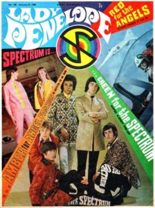 """While """"The Angels"""" didn't get many cover mentions, Issue 106 did feature the band Spectrum, who performed the show's end Credits song"""