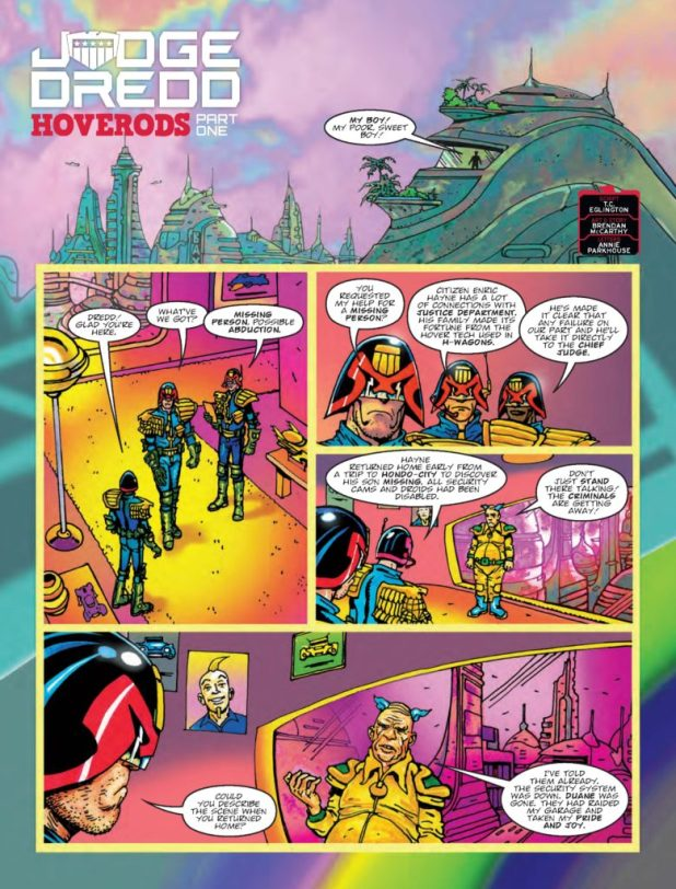 2000AD 2033 Judge Dredd: Hoverods - Part 1