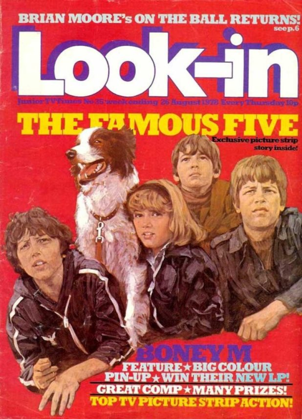 The Famous Five on a 1978 issue of Look-In